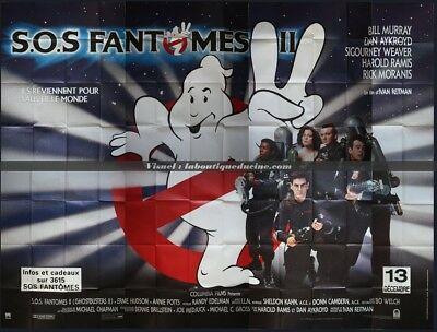 SOS FANTOMES 2 Ghostbusters II Affiche Cinéma GEANTE 4x3 WIDE Movie Poster