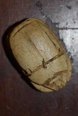 Rare Authentic Ancient Egyptian Scarab With Hieroglyphic Inscription