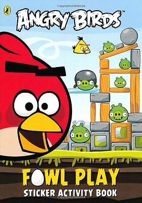 NEW Angry Birds  Fowl Play Sticker Activity Book Free Postage Creative Disney