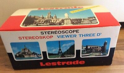 Vintage Boxed Stereoscope Lestrade Vintage Viewer with slides.