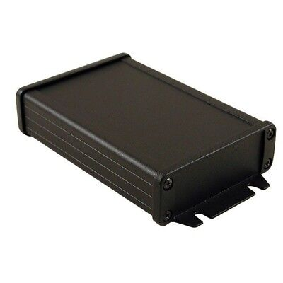 Hammond 1457J1202EBK Extruded Enclosure RFI Flanged 120 x 84 x 28.5mm Black IP54