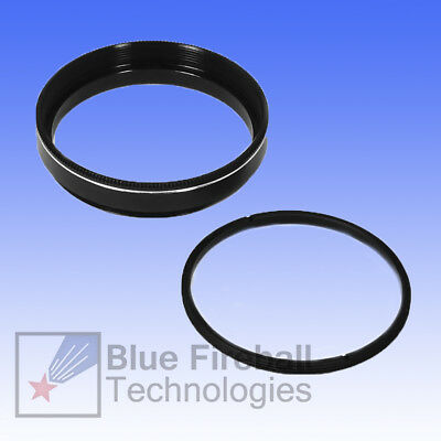 """Blue Fireball Empty 2"""" Astronomical Filter Cell with Retaining Ring # S-2F"""
