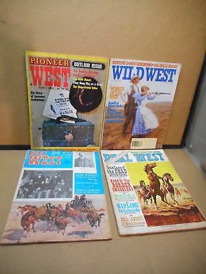 Lot of 4 Old West Magazines Pioneer West, Wild West, Real West 1969, 1971, 1993