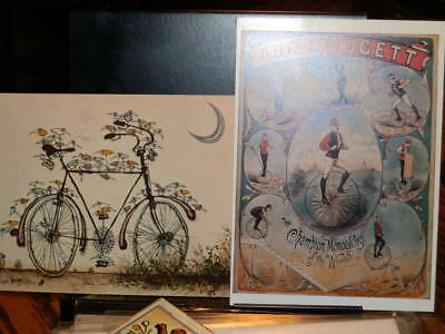 #7302,Group of SIX Postcards Vintage Bicycles,