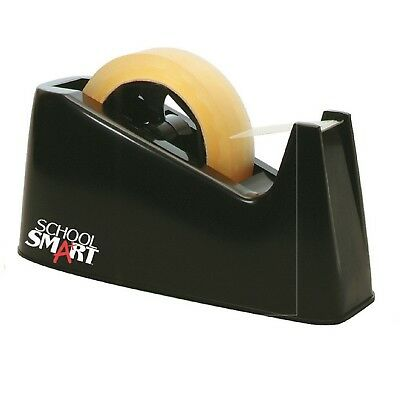School Smart Tape Dispenser with Interchangeable 1 and 3 Inch Cores Black-NEW