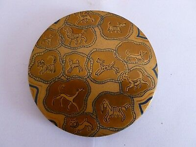 Vintage Vogue Vanities Powder Compact with Dogs Poodle Scotty Scottie Dachsund