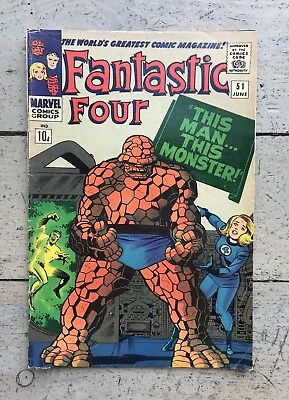 Fantastic Four #51 Galactus Silver Surfer Ff Marvel Lee Kirby 1966 Monster