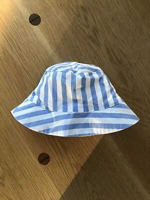 Jacadi Blue And White Stripes Summer Hat Size 47cm
