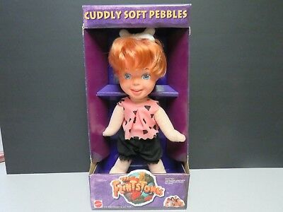 The Flintstones Movie Cuddly Soft Pebbles Flintstone by Mattel New in Package