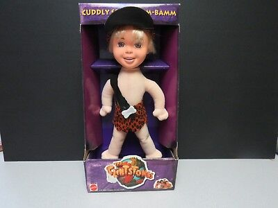 The Flintstones Movie Cuddly Soft Bam Bam Flintstone by Mattel New in Package