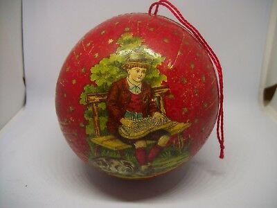 Antique German Christmas Victorian Childs Candy container/ Box/ Ornament! NICE!!
