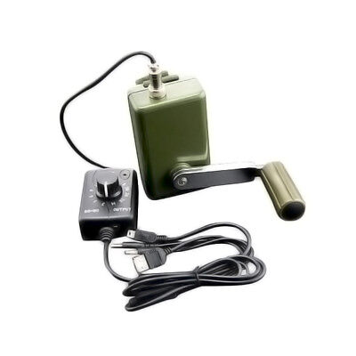 Portable Hand Crank Power Generator w/ Voltage Regulator