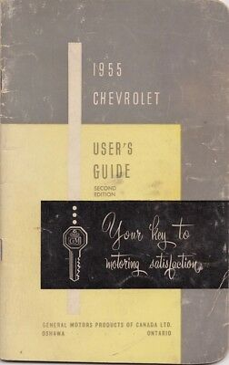 1955 CHEVROLET USER'S GUIDE OEM OWNER'S MANUAL GM of CANADA