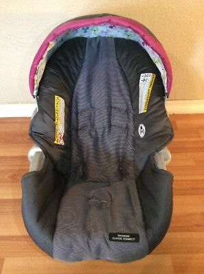 Graco SnugRide 20 22 Baby Car Seat Cushion Cover Canopy Set Part Gray Pink