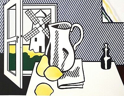 Roy Lichtenstein, Still life with windmill 1974, Hand Signed Lithograph A.P.