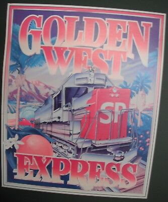 S.P. Railroad Freight Marketing Poster Framed