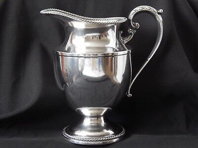 Vintage Antique Wallace Brothers Silverplate Water Beverage Pitcher 64 Ounces