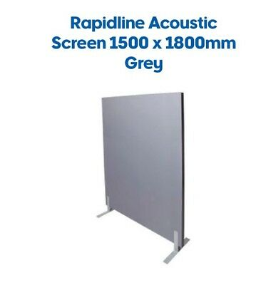 Rapidline 1500x1800 Acoustic Screen Free Standing Partition Grey