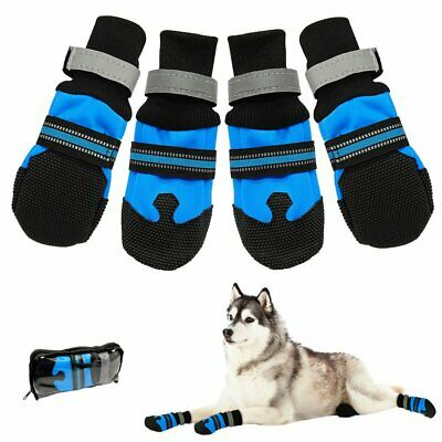 Waterproof Large Dog Shoes Boots Booties For Snow Winter Reflective Anti-slip US