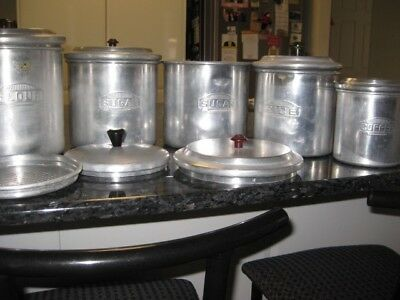 Vintage Kitchen Canisters, Retro  Kitchen Canisters Set , 60s 70s