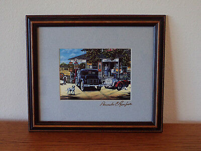 Coca-Cola Coke framed picture print Looking Back by Pamela Renfroe 1994