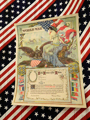 "Wwi Soldier Honor For Serving Colorful Original Poster 16"" X 21""  Poster"