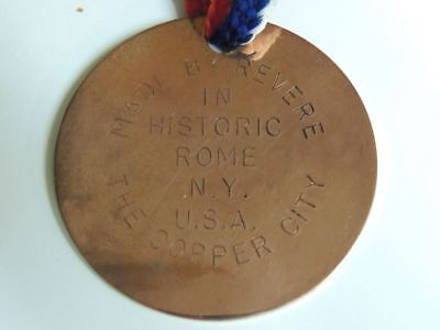 VERY SCARCE! Vintage Revere Ware Copper MEDALLION MEDAL COIN Rome NY