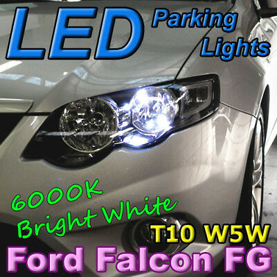 Pair of T10 W5W White LED Bulbs for Ford Falcon Parking Lights Parker BA BF FG