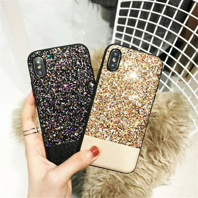 Luxury Women Bling Sparkly Glitter Phone Case Cover For iPhone 6s 6 8 7 Plus X