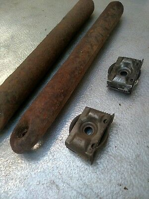 Two Antique Window Sash Pulleys And Two 6-pound Weights from 1920 windows