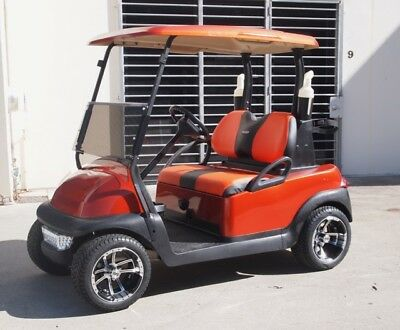 Golf Cart Buggy Car Custom  Club Car Precedent With 12 Inch Wheels Custom Paint