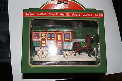 1995 Dated Town Square Collection Lunch Wagon  64335 Coca Cola Christmas  NIB