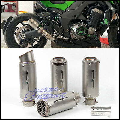 38-51mm Universal Motorcycle ATV Exhaust Muffler Pipe Stainless Steel Tail Tube
