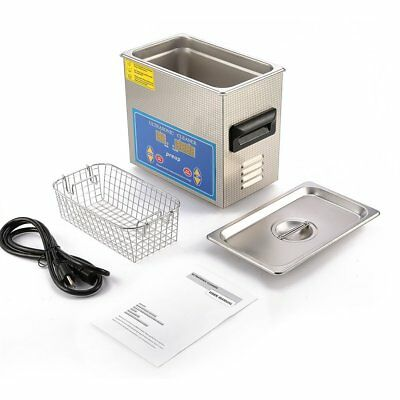 New Stainless Steel 3L Industry Ultrasonic Cleaner Heater w/Timer Jewelry Watch