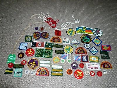 VINTAGE COLLECTION OF BOY SCOUTS 62 BADGES  & MORE  circa 1980s
