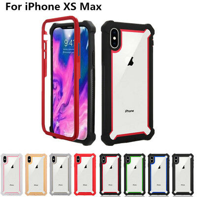 For Apple iPhone XS Max XR X 8 6 7 Plus Hybrid Heavy Soft Bumper Hard Case Cover