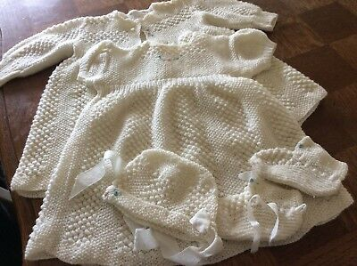 Hand Knitted Baby Layette