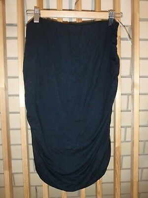 Bnwt Size 12 Pea In A Pod Black Rouched Maternity Skirt