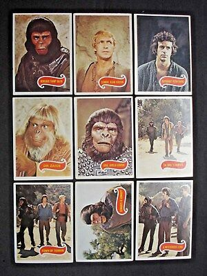 1975 Scanlens *planet Of The Apes* Tv Show Near Complete Set 64/66