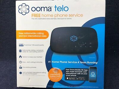 Ooma Telo Free Home Phone Service New in Unopened Box with Same Day Shipping