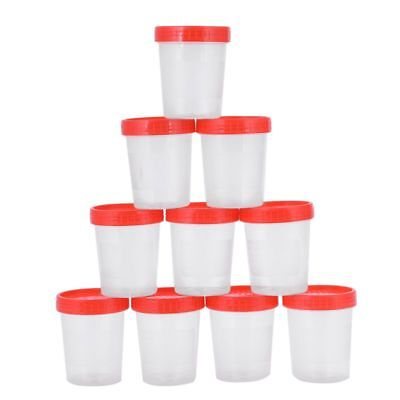 10 pieces urine cup 125 ml + screw cap urine sample cup urine cup plastic c B8R1
