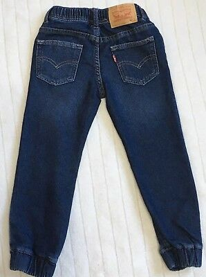 Authentic Levis Boys Blue Knit Jogger Cuffed Jeans Age 4 - 5 Years