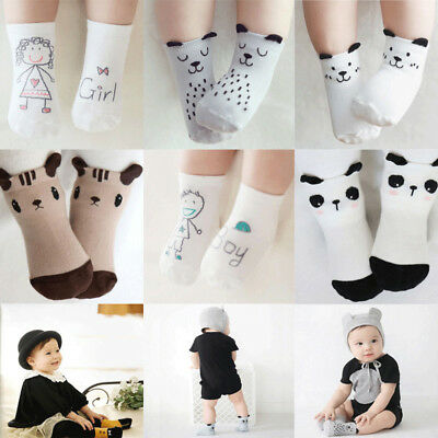 5 Pairs Baby Boy Girl Cotton Cartoon Socks Newborn Infant Toddler Kid Warm Sock
