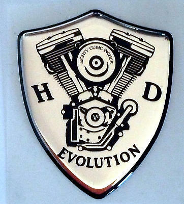 Harley Davidson®  Evolution 3D Doming Decal 2 Stück Aufkleber