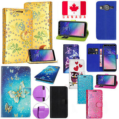 For Samsung Galaxy J3 2016 - Magnetic PU Leather Wallet Flip Stand Case Cover
