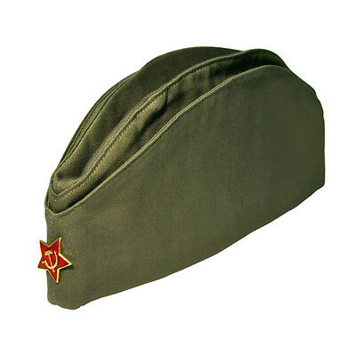 Soviet Soldier Russian Ussr Army Pilotka Military Uniform Field Hat Red Star