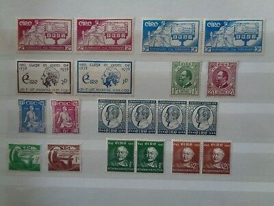 Ireland 1937-1945 Nice Mint Mh Selection Of Sets & Pairs Etc Cat £50+