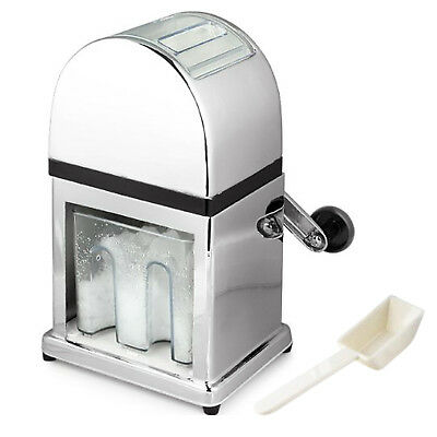 769008 Manual Ice Crusher Machine Tray /& Scoop for Cocktails /& Smoothies