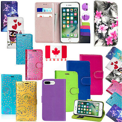 For Apple iPhone 5-5s /6-7-8/ 6Plus / 7-8 Plus PU Leather Wallet Flip Case Cover