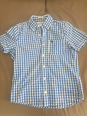 Abercrombie Kids Size XL Boys Short Sleeved Blue Check Shirt VGC